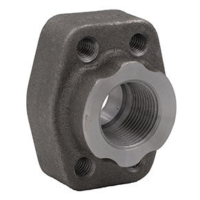 "1-1/4"" Code 62 Flat Face Flange x 1-1/4"" NPT Carbon Steel"
