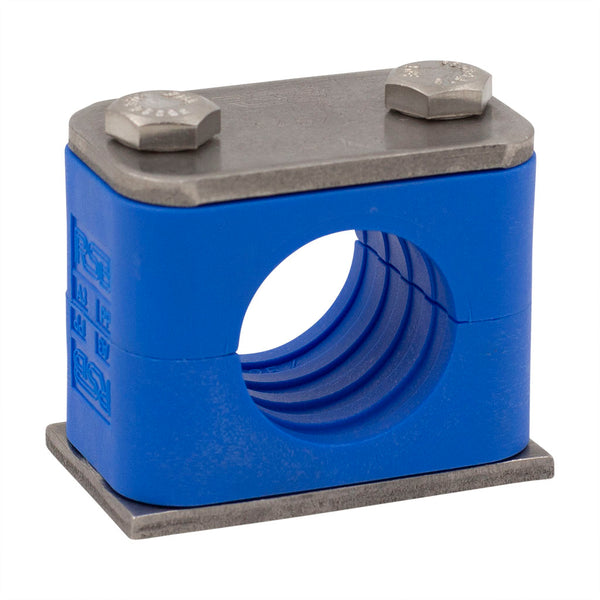"1/4"" Tube Blue Clamp 304 Stainless Steel Hardware"