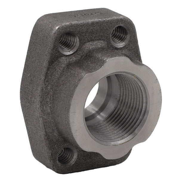 "1-1/4"" Code 61 Flat Face Flange x 1-1/4"" NPT Carbon Steel"