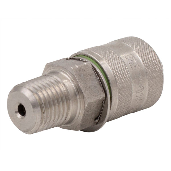 "M16x2 X 1/4"" NPT Test Port Adapter 316 Stainless Steel"
