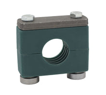 "Load image into Gallery viewer, 3/8"" Pipe Heavy Series Rail Mount Clamp, Zinc Plated Hardware"