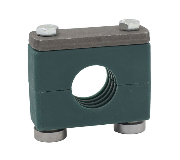 "3/8"" Pipe Heavy Series Rail Mount Clamp, Zinc Plated Hardware"