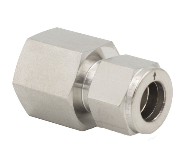 "3/8"" Tube O.D. x 1/2"" NPT Female Connector Fitting"