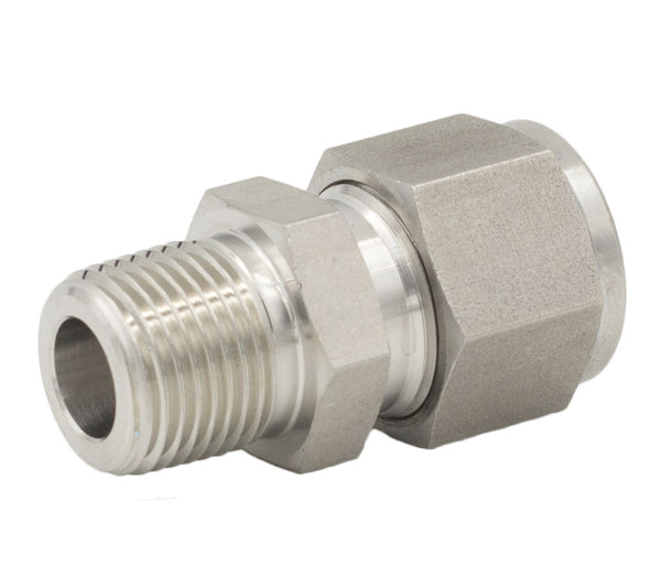 "1/2"" Tube O.D. x 1/4"" NPT Male Connector Fitting"