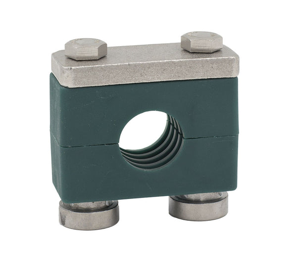 "1/2"" Pipe Heavy Series Rail Mount Clamp 316 Stainless Steel Hardware"