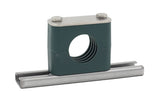 "2"" Pipe Rail Mount Stauff Clamp, 304 Stainless Steel Hardware"
