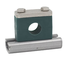 "Load image into Gallery viewer, 2"" Pipe Heavy Series Rail Mount Clamp 304 Stainless Steel Hardware"