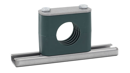 Rail Mount Pipe Clamp Carbon Steel Hardware