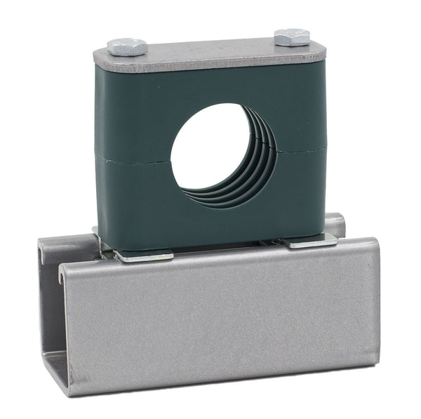 "2-1/4"" Tube Strut Mount Stauff Clamp, Zinc-Plated Hardware"
