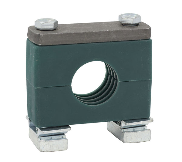 "1/2"" Tube Heavy Series Strut Mount Clamp, Zinc Plated Hardware"