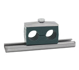 "1-1/2"" Tube Twin Series Rail Mount 316 Stainless Steel Hardware"