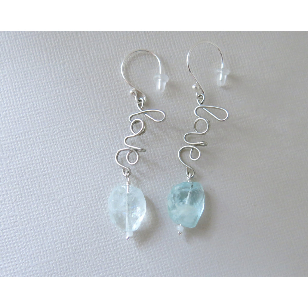 Love Sterling Silver - Aquamarine Rainbow Inclusion Gemstones - March