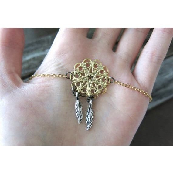 products product catcher shop chic dreamcatcher anklet image boho dream