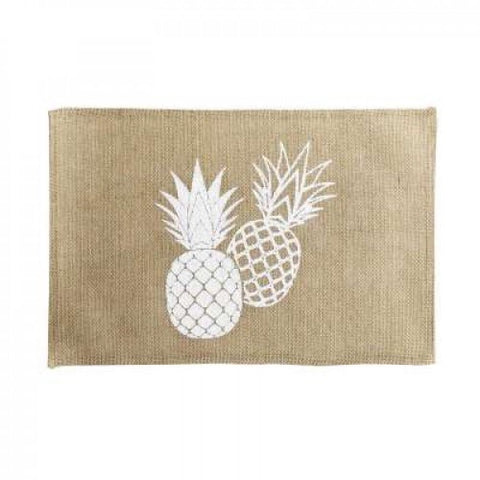 Lot de 4 Set de table en jute imprimé Ananas