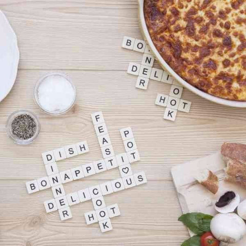 Dessous de plat scrabble subtext