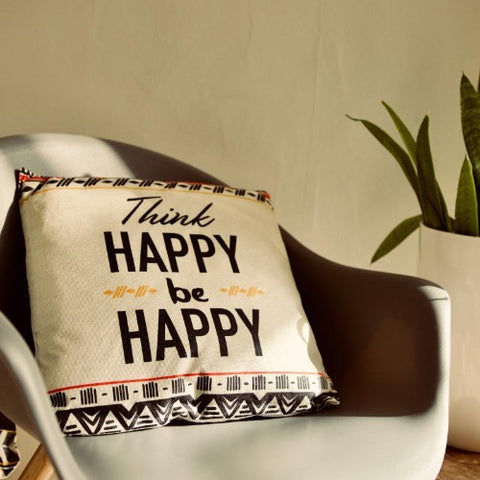 "Coussin "" Think Happy"""