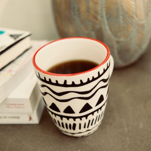 mug boho tribal design