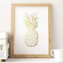 Affiche poster ananas pineapple doré