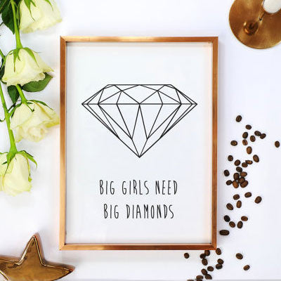 Poster big girls need big diamonds taylor affiche lovely decor