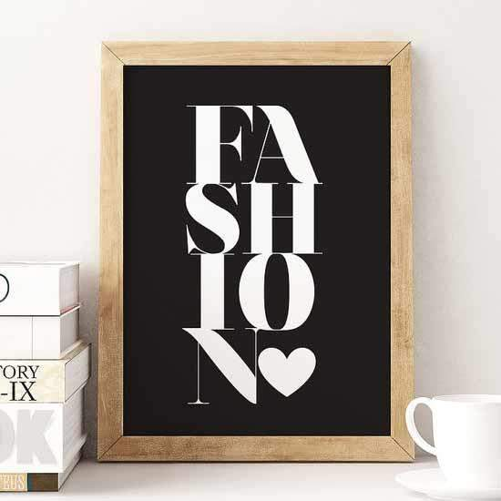 Affiche fashion poster love mode lovely decor