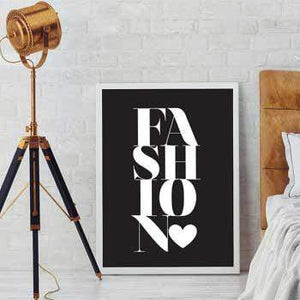 Affiche fashion mode love calligraphie poster