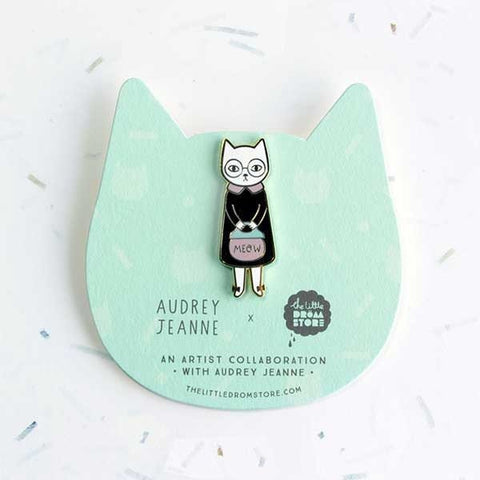 Broche chat madame mrs cat audrey jeanne