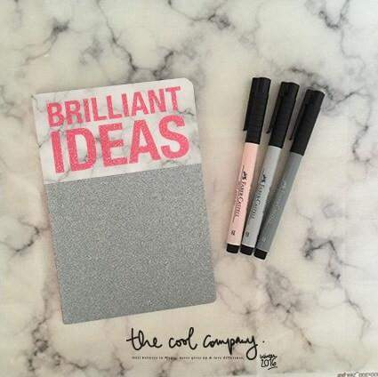 Carnet note journal papeterie brilliant ideas