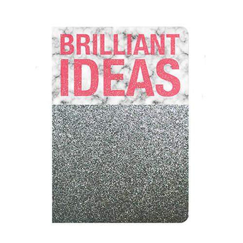 Carnet brilliant ideas marbre paillettes the cool company