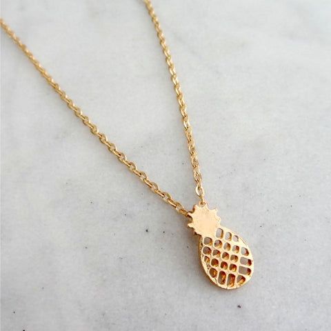 Collier ananas pendentif tropical necklace