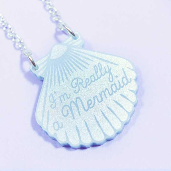 Collier mermaid shell love crafty nacre perle