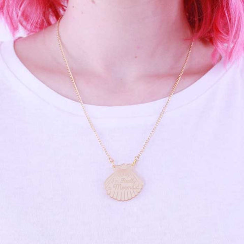 Collier sirene coquillage dore gold love crafty