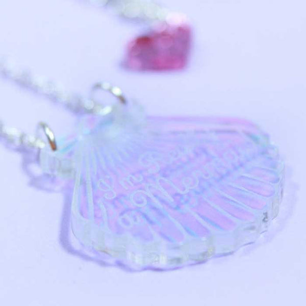 Collier mermaid shell love crafty iridescent
