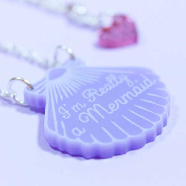 Collier mermaid shell love crafty violet
