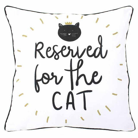 Coussin reserved for the cat reserve chat deco tendance