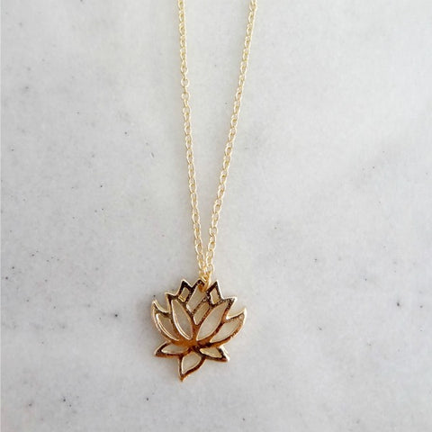 Collier fleur lotus zen flower necklace