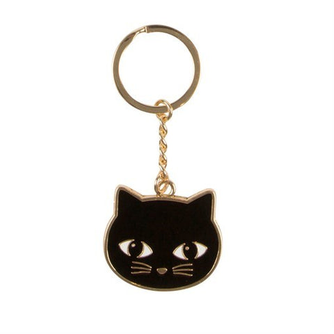 porte clés chat noir sass belle black cat keyring
