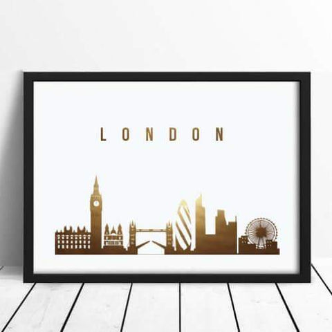 Affiche londres london panorama skyline silhouette