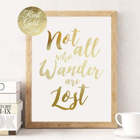 Affiche not all who wander are lost tolkien seigneur anneaux