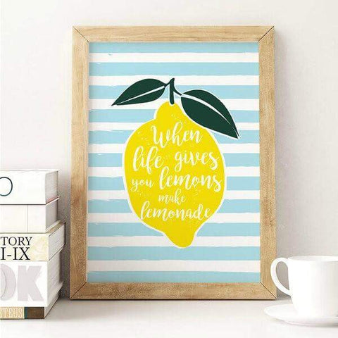 Affiche when life gives you lemons make lemonade poster