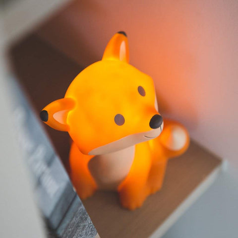 Lampe veilleuse renard orange fox cesar LED