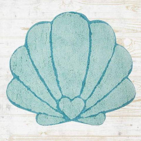 Tapis coquillage sirène sirene mermaid shell mat rug