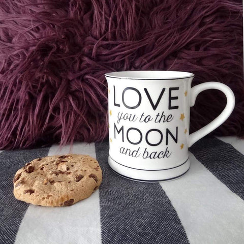Mug love you moon back amour tasse cafe the