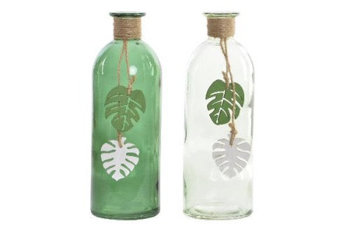 Vase verre tropical