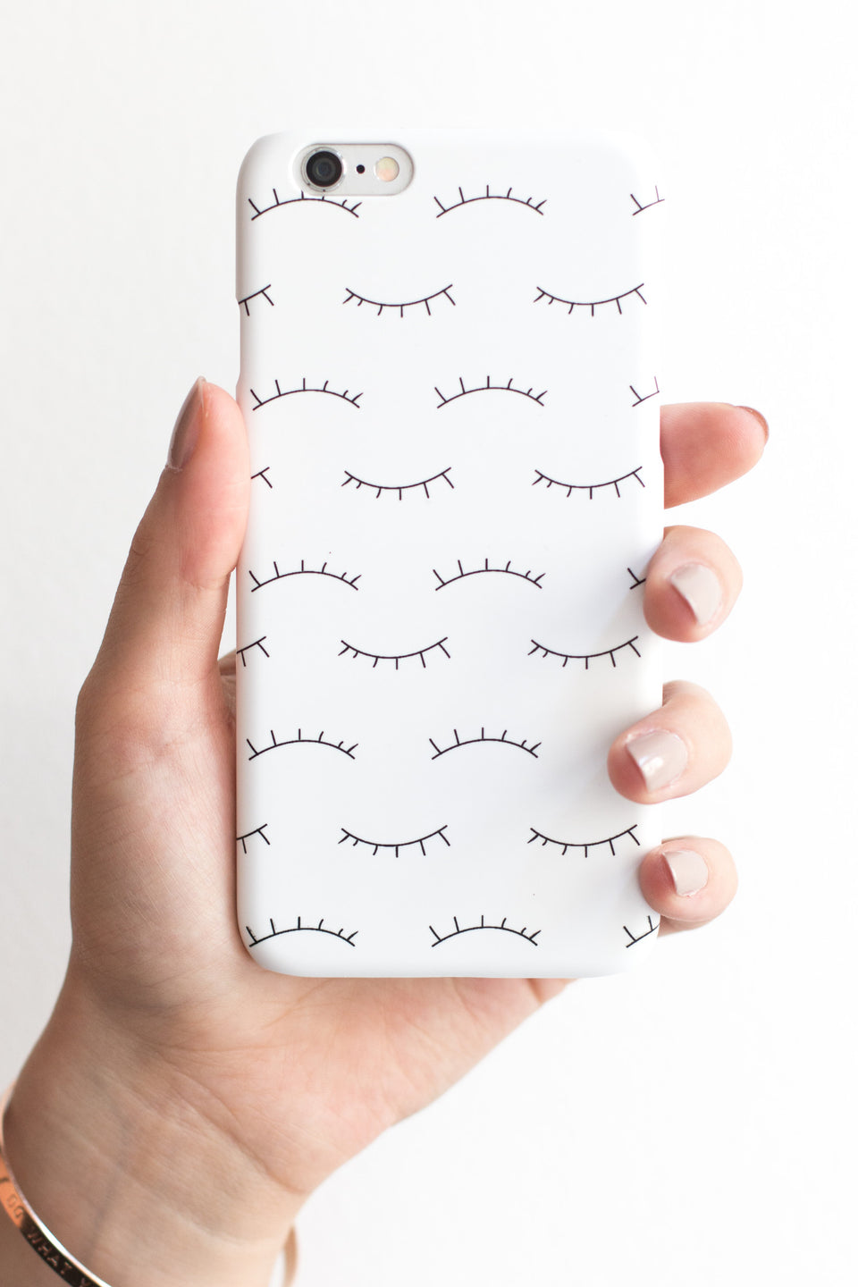 white Phone Case with eyes
