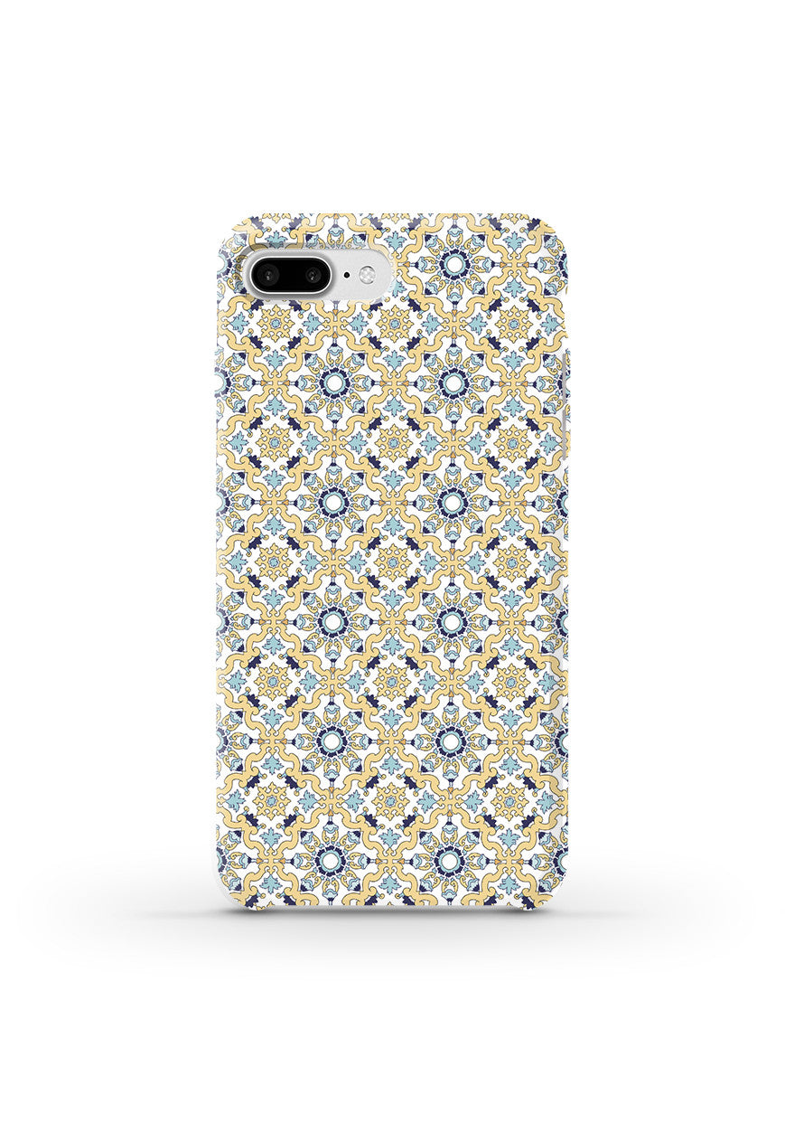 Phone Case with portuguese tiles pattern