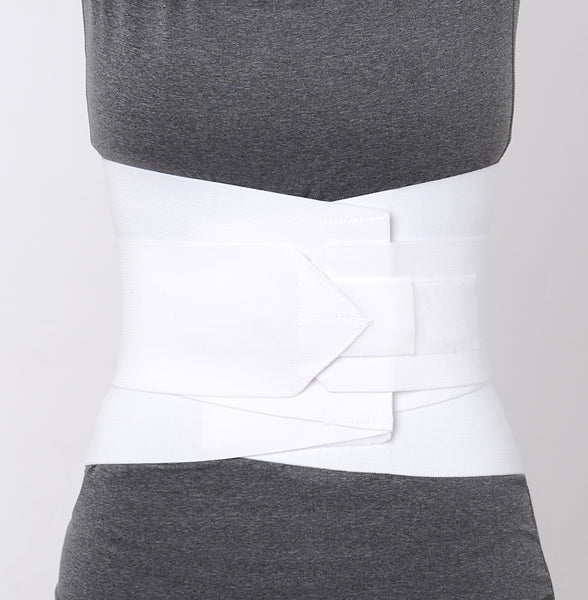 "10"" Lumbar Sacral Support w/ Double Pull Tension Straps - White - (20""-58"" Waist) -  by Advanced Orthopaedics - Superior Braces - SuperiorBraces.com"