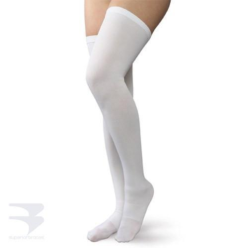 Anti-Embolism Stockings - Thigh High / Closed Toe - 18mm Hg Compression -  by Advanced Orthopaedics - Superior Braces - SuperiorBraces.com
