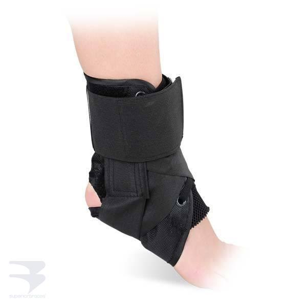 Canvas Lace-Up Ankle Brace -  by Advanced Orthopaedics - Superior Braces - SuperiorBraces.com