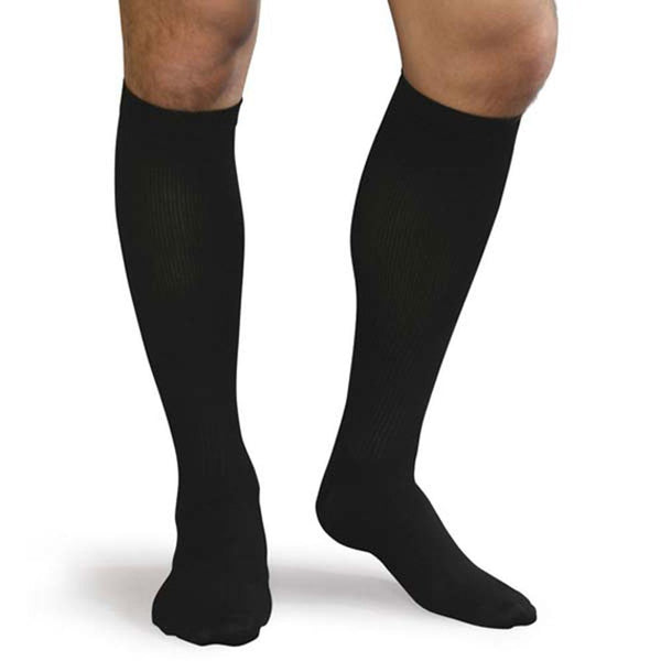 Men's Ribbed Dress Support Socks (15-20mm Hg Compression) - 3 Pack -  by Advanced Orthopaedics - Superior Braces - SuperiorBraces.com