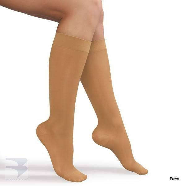 Ladies Knee High Compression Stocking (15-20 mm Hg Compression) -  by Advanced Orthopaedics - Superior Braces - SuperiorBraces.com